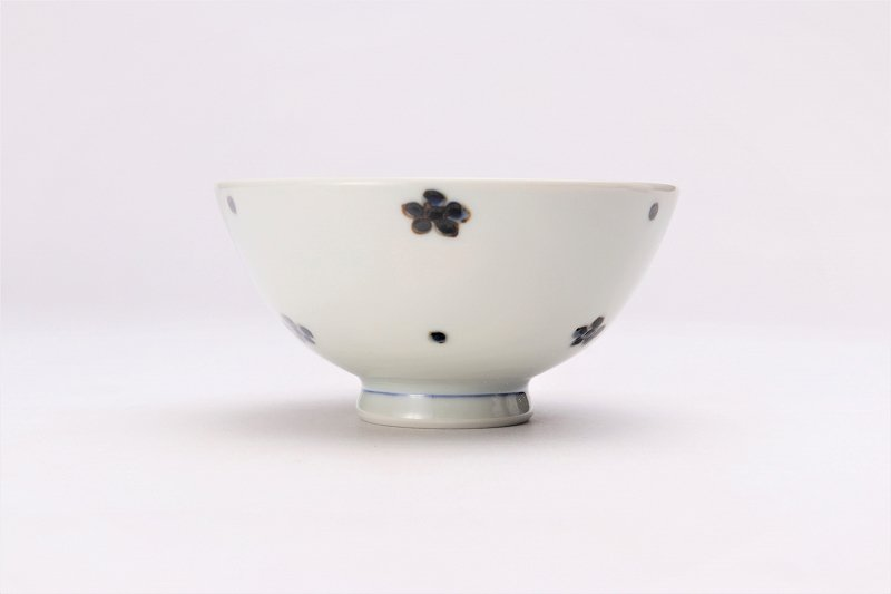 楽々シリーズ 染付小花紋 ミニ茶碗 (化粧箱入り) 画像サブ1