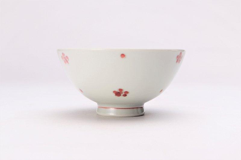楽々シリーズ 染付赤小花紋 ミニ茶碗 (化粧箱入り) 画像サブ2