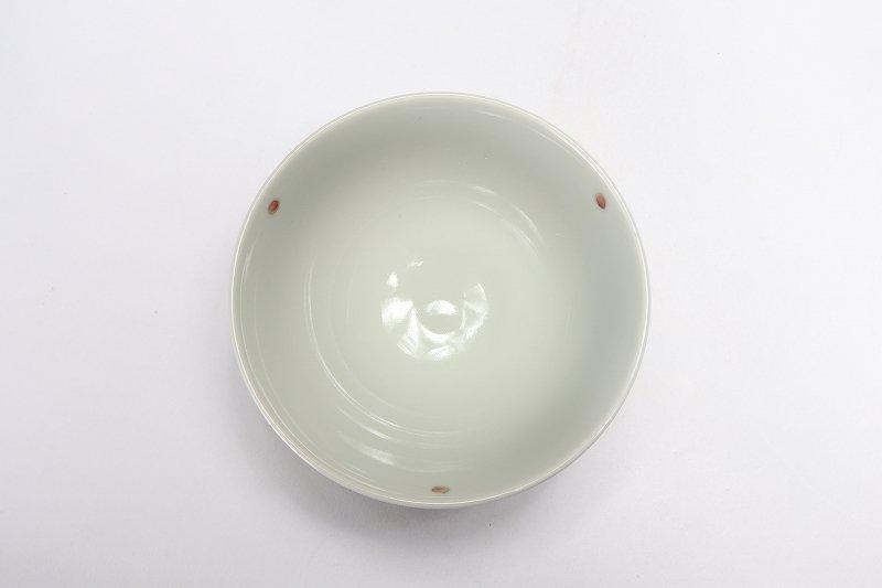 楽々シリーズ 染付赤小花紋 ミニ茶碗 (化粧箱入り) 画像サブ3