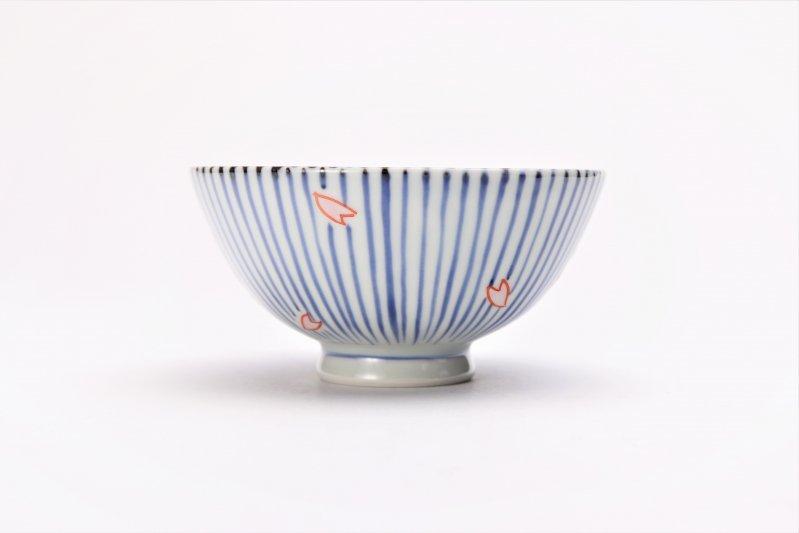 楽々シリーズ 染錦呉須十草桜 ミニ茶碗 (化粧箱入り) 画像サブ2