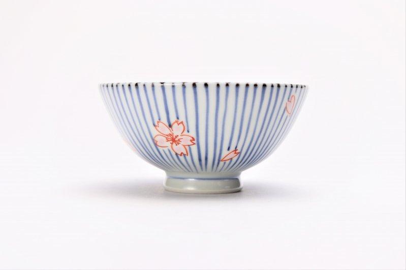 楽々シリーズ 染錦呉須十草桜 ミニ茶碗 (化粧箱入り) 画像サブ3