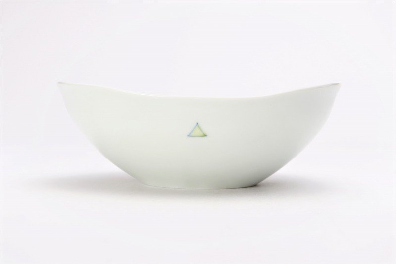 一峰窯 トライアングル 楕円浅小鉢 画像サブ2