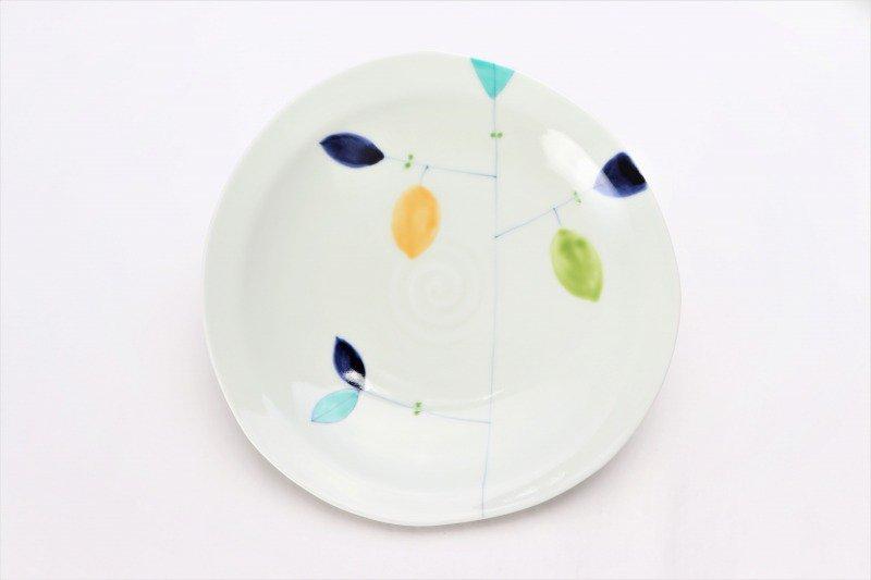 一峰窯 レモン 三角7寸皿 画像サブ2