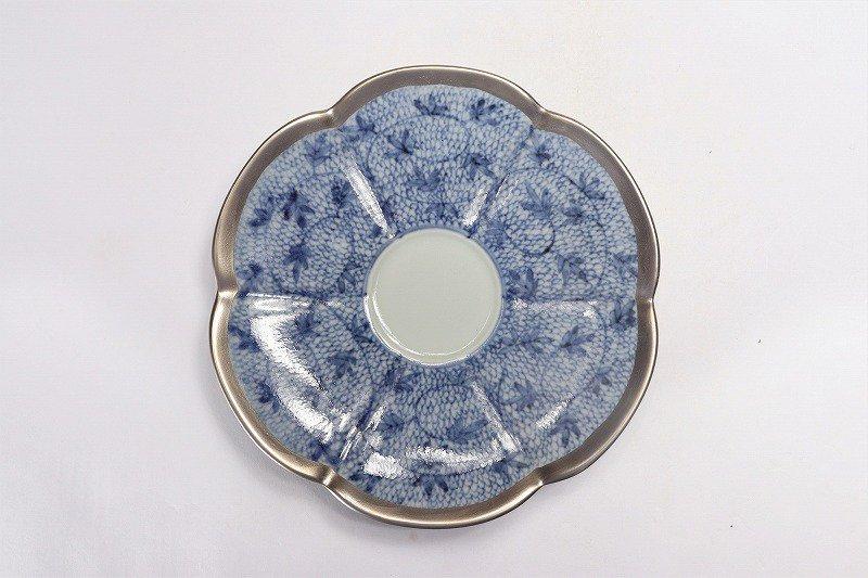福泉窯 染付みじん唐草銀彩 瓜型コーヒー碗皿 画像サブ5