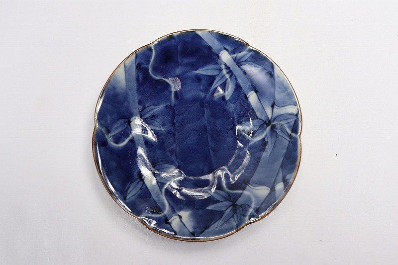 福泉窯 染付竹濃 花びら型コーヒー碗皿 画像サブ6