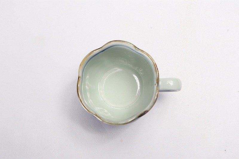 福泉窯 染付宝尽くし 花びら型コーヒー碗皿 画像サブ5