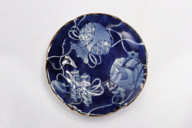 福泉窯 染付宝尽くし 花びら型コーヒー碗皿 画像サブ6