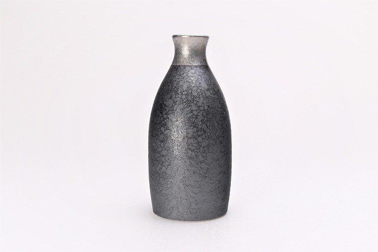 陶悦窯 晶渕太銀塗り 1合徳利セット 画像サブ2