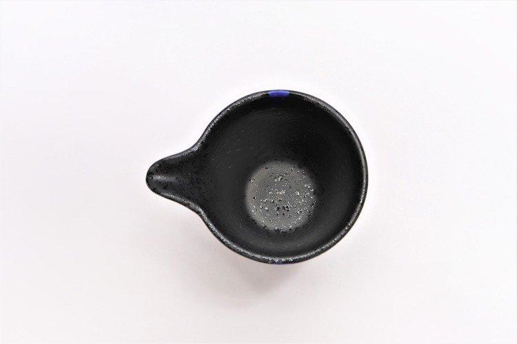 梶貞製陶所 黒ルリ吹 一合片口酒器セット 画像サブ5