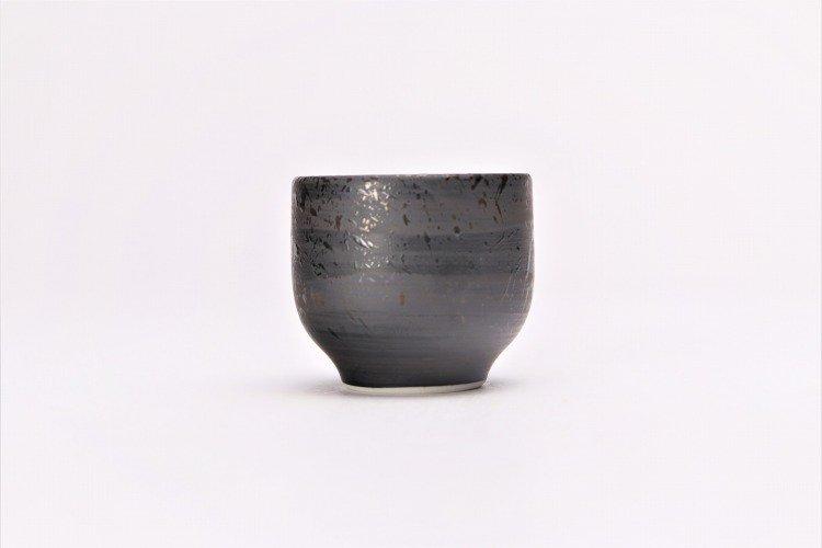 梶貞製陶所 黒ルリ吹 反ぐい呑 画像サブ2