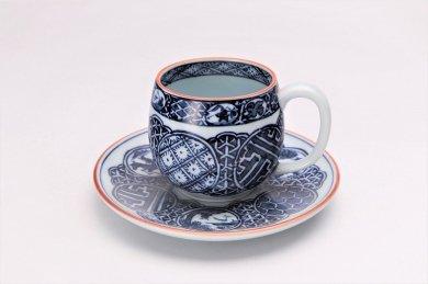 亮秀窯 染付祥瑞丸紋 丸型碗皿