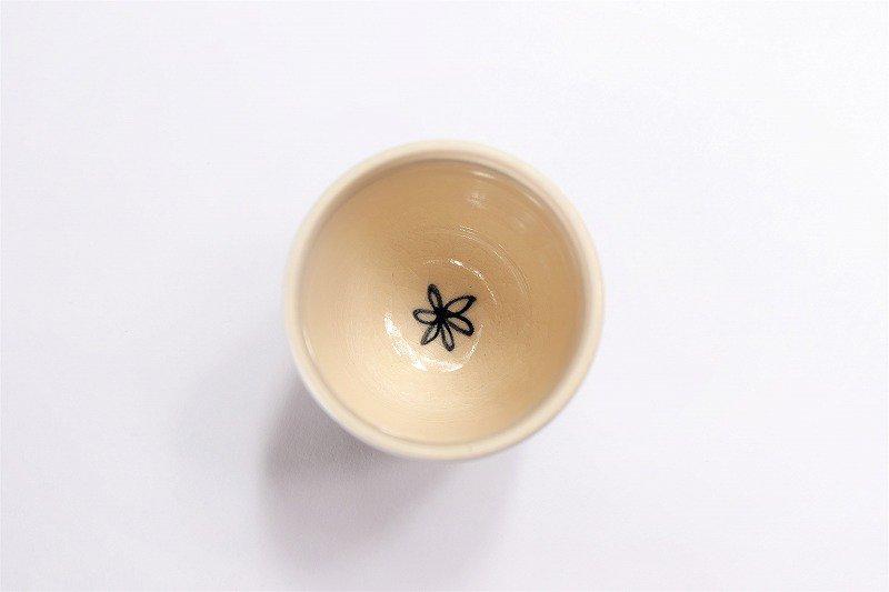 喜鶴製陶 花詰筒型湯呑C/S(青) 画像サブ2