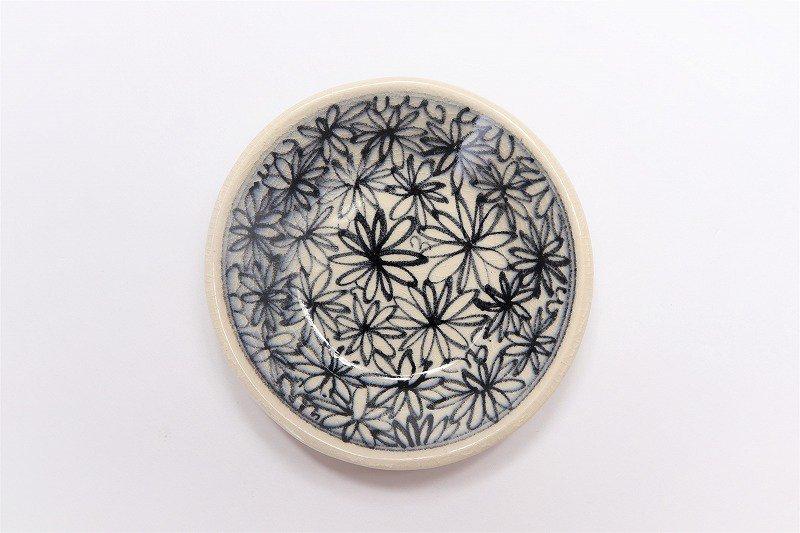 喜鶴製陶 花詰筒型湯呑C/S(青) 画像サブ3