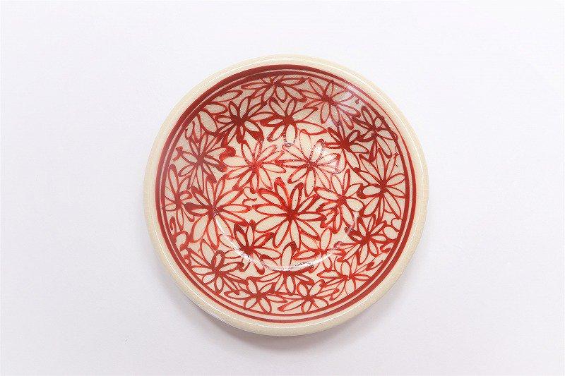 喜鶴製陶 花詰筒型湯呑C/S(赤) 画像サブ3