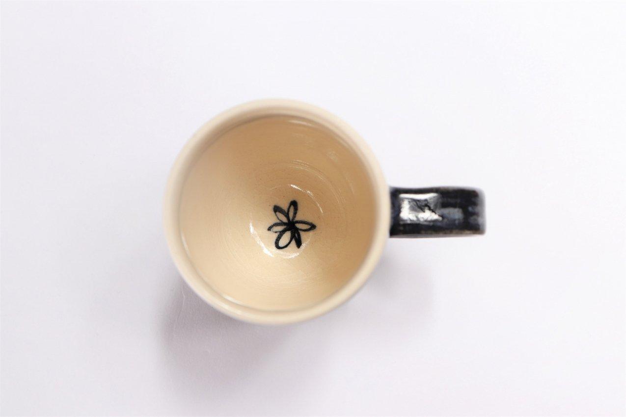 喜鶴製陶 花詰筒型マグカップC/Sペア 画像サブ5