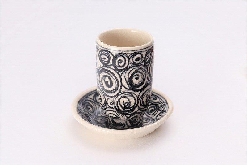 喜鶴製陶 渦紋筒型湯呑C/Sペア 画像サブ1