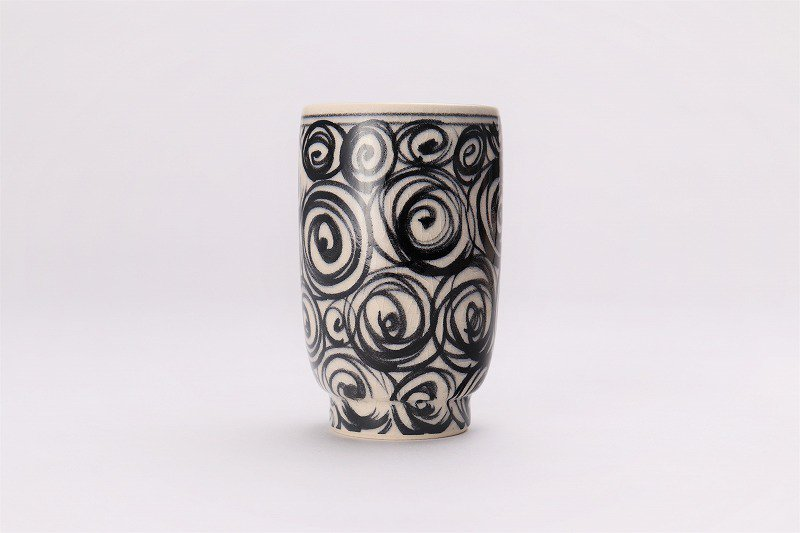 喜鶴製陶 渦紋筒型湯呑C/Sペア 画像サブ3