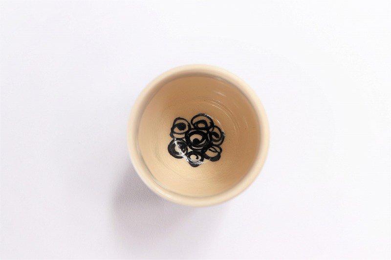喜鶴製陶 渦紋筒型湯呑C/S(青) 画像サブ2