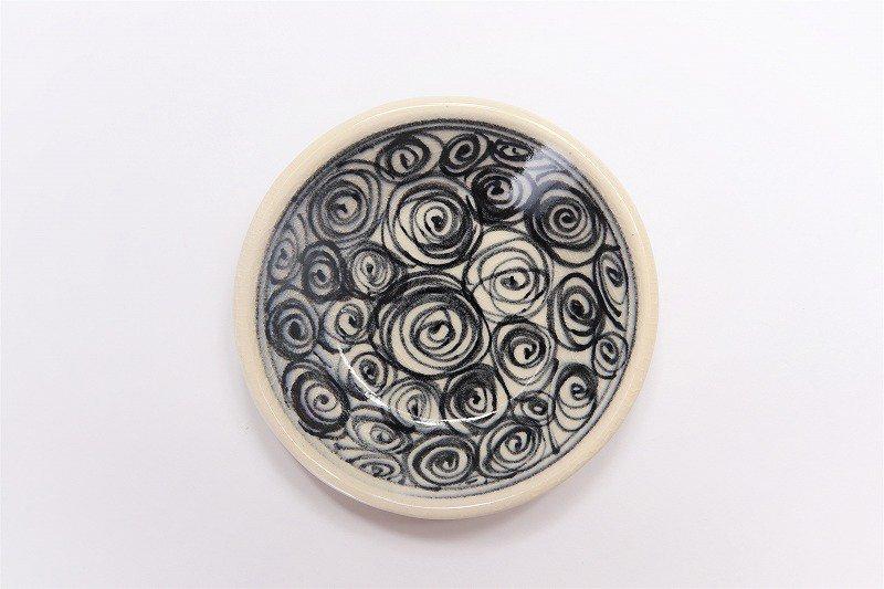 喜鶴製陶 渦紋筒型湯呑C/S(青) 画像サブ3