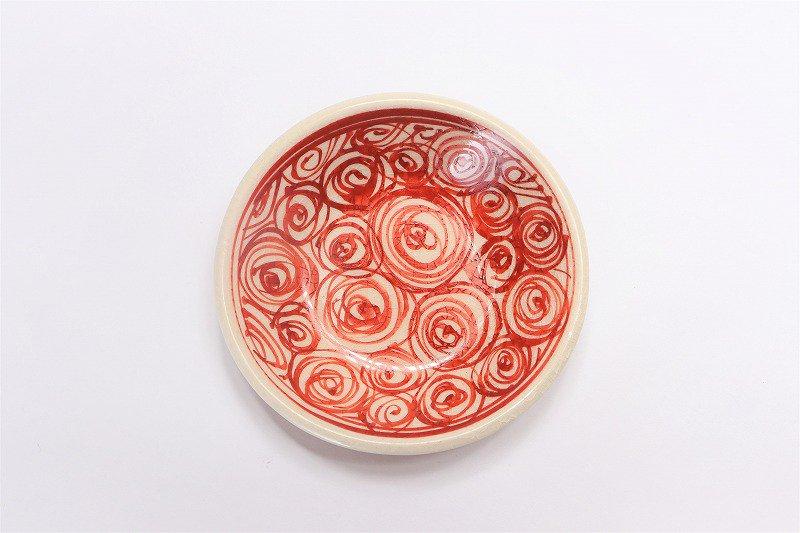 喜鶴製陶 渦紋筒型湯呑C/S(赤) 画像サブ3