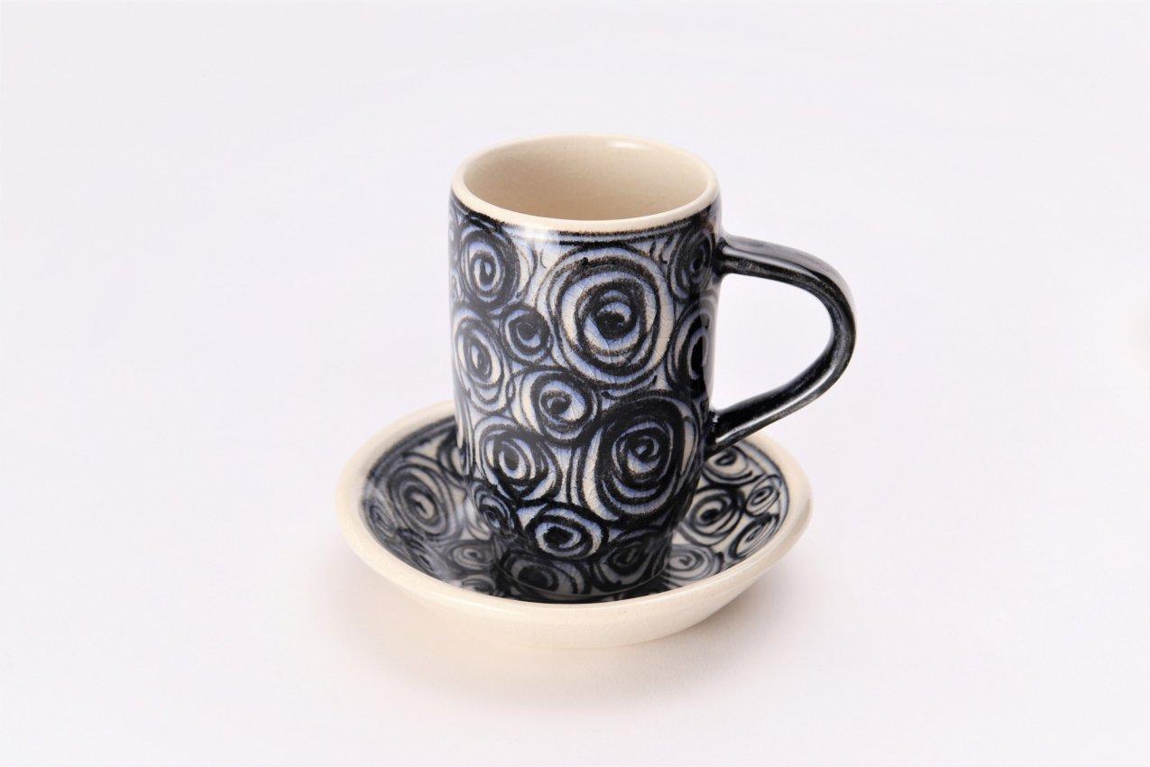 喜鶴製陶 渦紋筒型マグカップC/Sペア 画像サブ1
