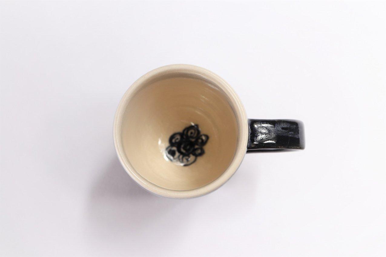 喜鶴製陶 渦紋筒型マグカップC/Sペア 画像サブ5