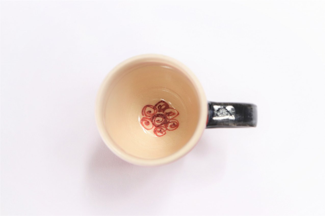 喜鶴製陶 渦紋筒型マグカップC/Sペア 画像サブ6