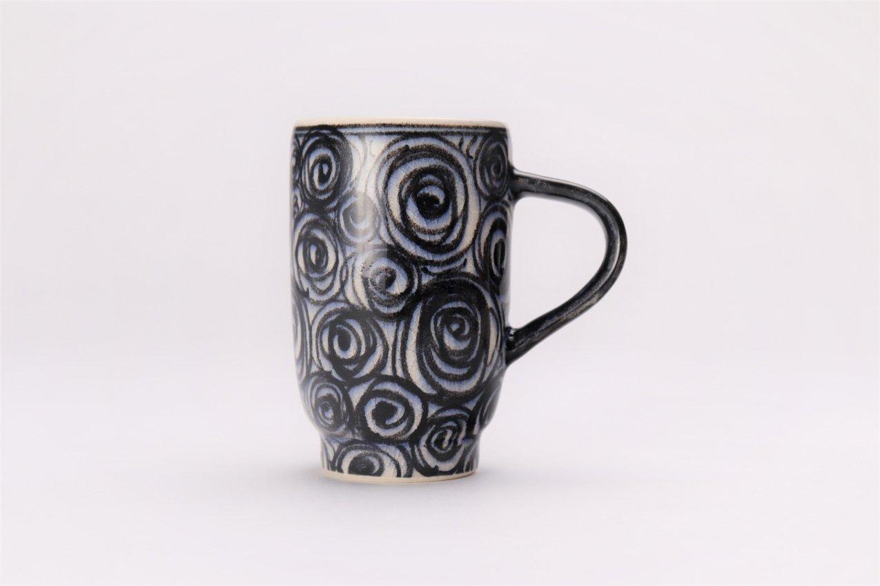 喜鶴製陶 渦紋筒型マグカップC/S(青) 画像サブ1