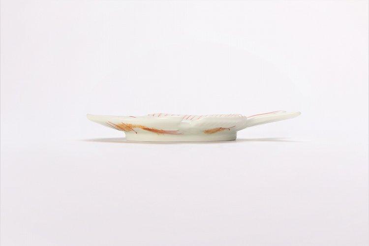 幸楽窯 錦金たたき鯛形銘々皿(小) 画像サブ1