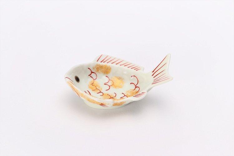 幸楽窯 錦金たたき鯛形小付 画像メイン