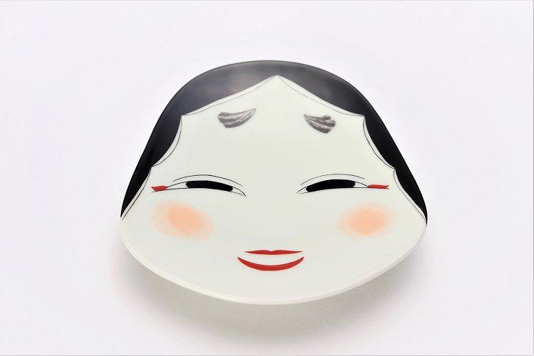 幸楽窯 錦おふくさん 銘々皿 画像メイン