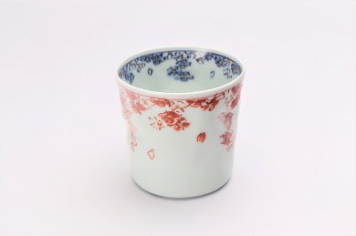一夢窯 桜散らしカップ(赤)