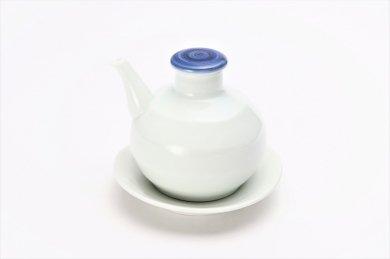 康創窯 太白つまみ呉須 汁次(台皿付)