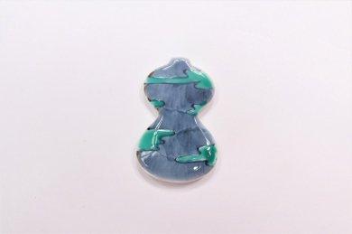 徳七窯 伊万里ひょうたん箸置き 雲(緑)