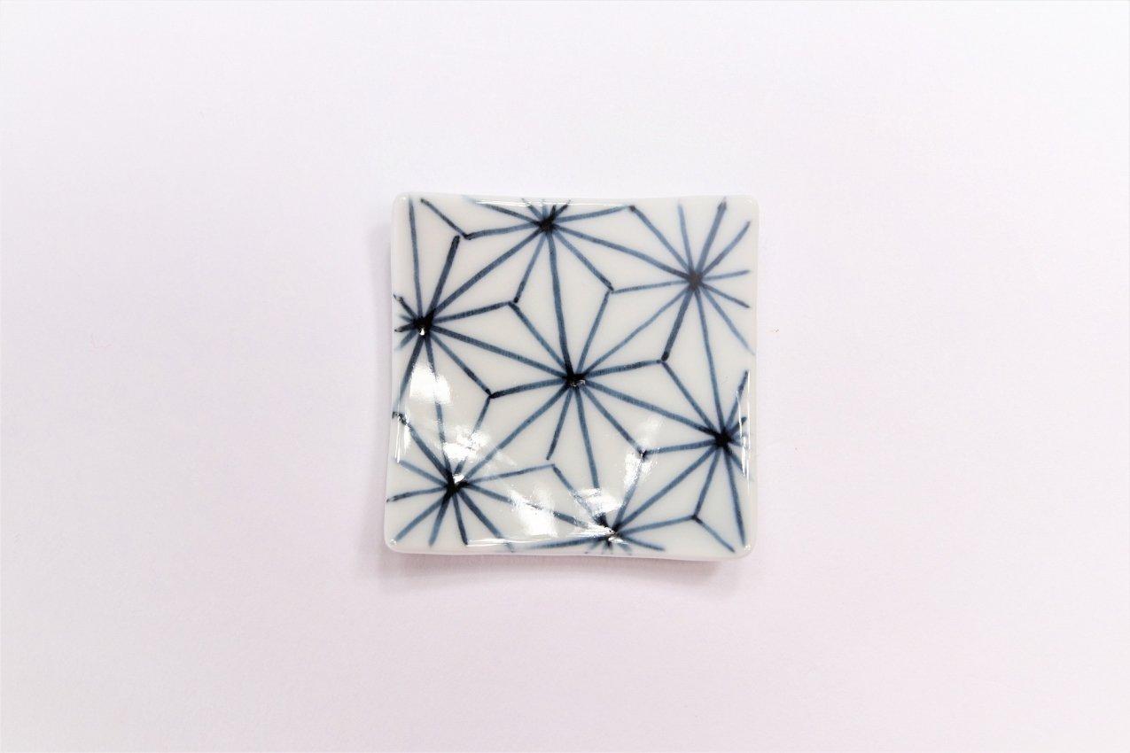 聖陶苑 染付麻の葉反正角(小) 箸置き 画像サブ1