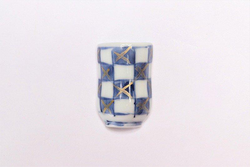 一夢窯 市松 湯呑型箸置き 画像メイン