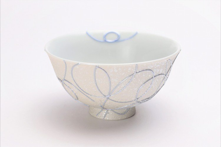 楽々シリーズ ブルー・ピンク一珍ペア茶碗 (化粧箱入り) 画像サブ1