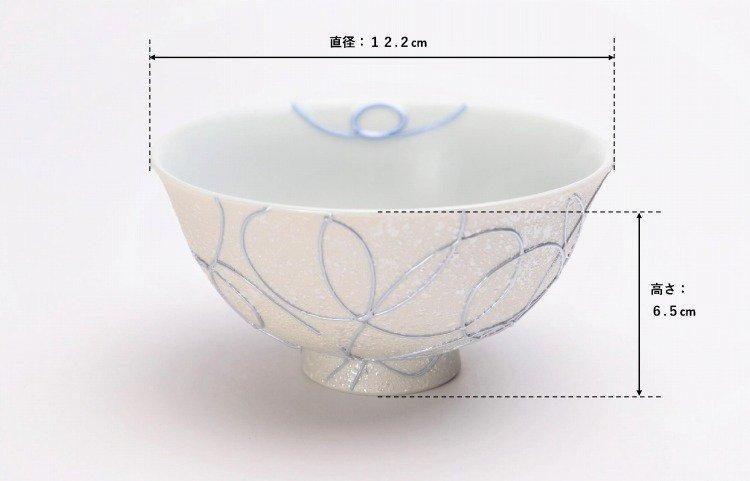 楽々シリーズ ブルー・ピンク一珍ペア茶碗 (化粧箱入り) 画像サブ6