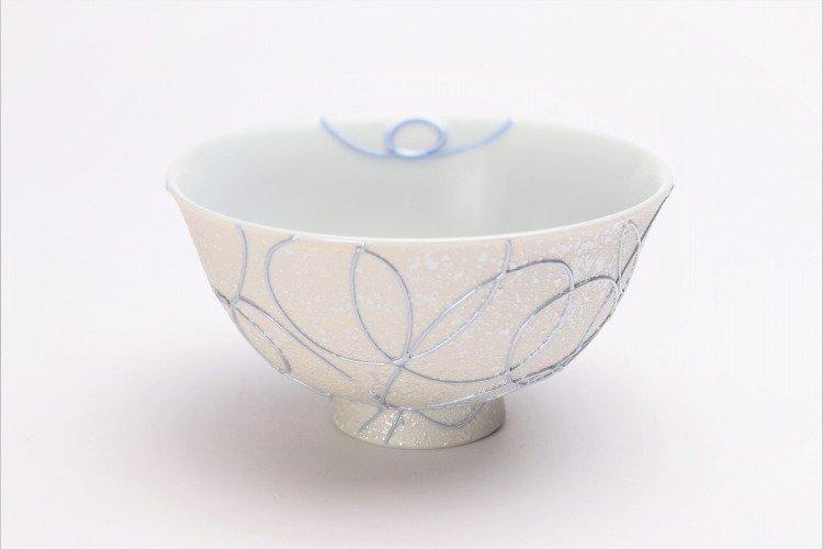 楽々シリーズ ブルー一珍 茶碗 (化粧箱入り) 画像メイン