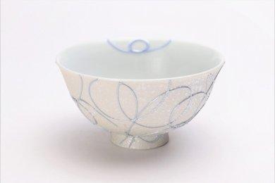 楽々シリーズ ブルー一珍 茶碗 (化粧箱入り)