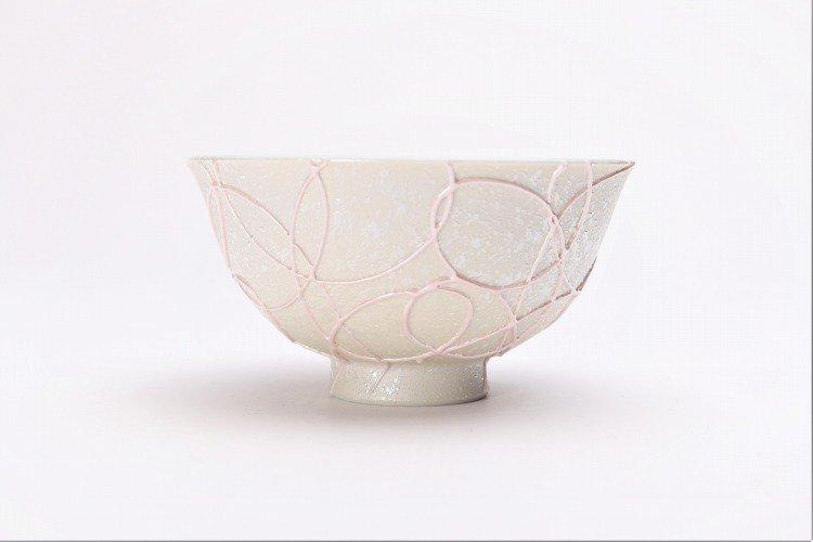 楽々シリーズ ピンク一珍 茶碗 (化粧箱入り) 画像サブ1