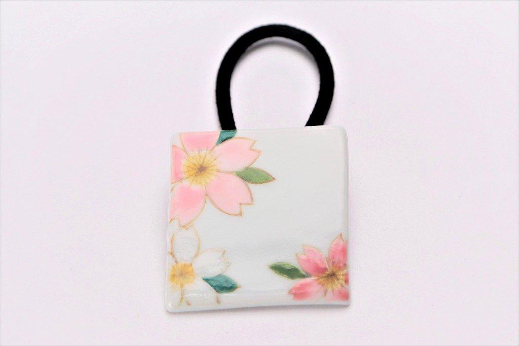楽々シリーズ ピンク桜 ヘアゴム(大)