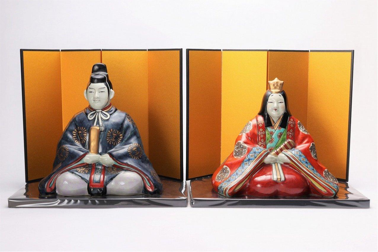 円左ェ門窯 ひな人形(大)(屏風・台付)