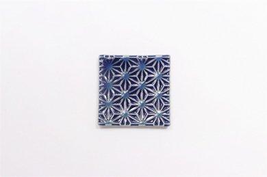梶謙製磁 麻の葉彫り 箸置き
