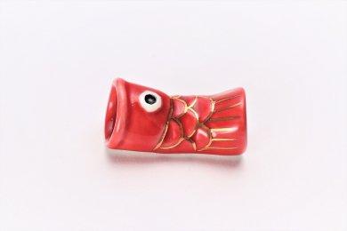 古鈴陶芸社 こいのぼり型(赤) 箸置き