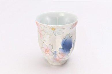 田清窯 チェリーブラッサム(青) 桜湯呑
