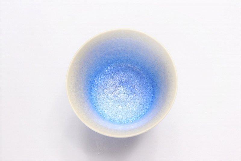 真右ェ門窯 手造り 藍染ロックカップ(たて) 木箱付 画像サブ2