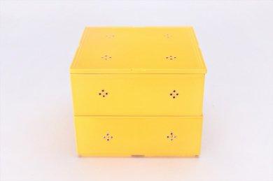 献上点心 黄交趾マロン小花正角二段箱