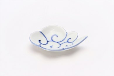 伝平窯 筋斗雲(描き) 雲型豆小皿