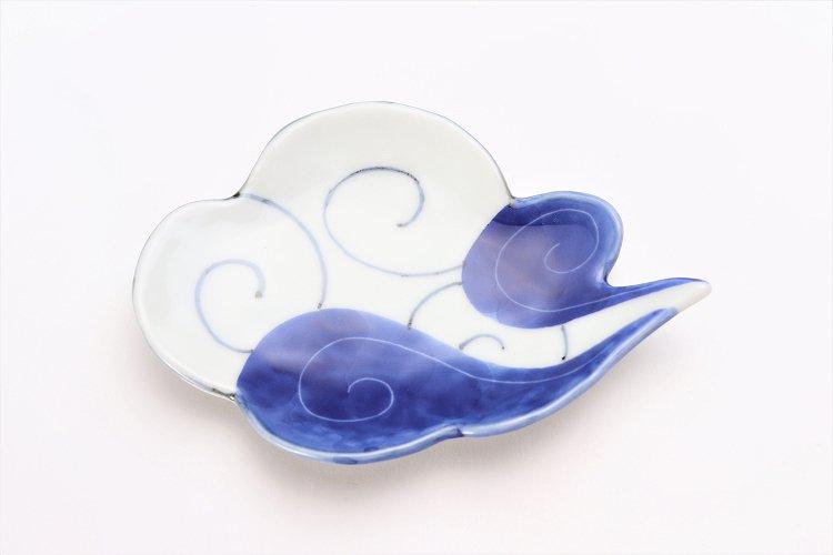 伝平窯 染濃雷雲 雲型銘々皿 画像サブ2